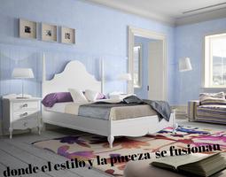 Dormitorio con estilo propio  todo un clasico  actual , combinando  el estilo mas  puro  con el diseño  actual ,en colores que marcan tendencia .